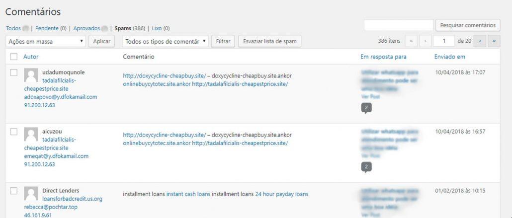 Como resolvi problemas de spam nos comentários em meu tema wordpress