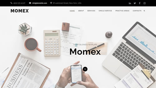 Melhor tema wordpress para agência de Marketing - MOMEx