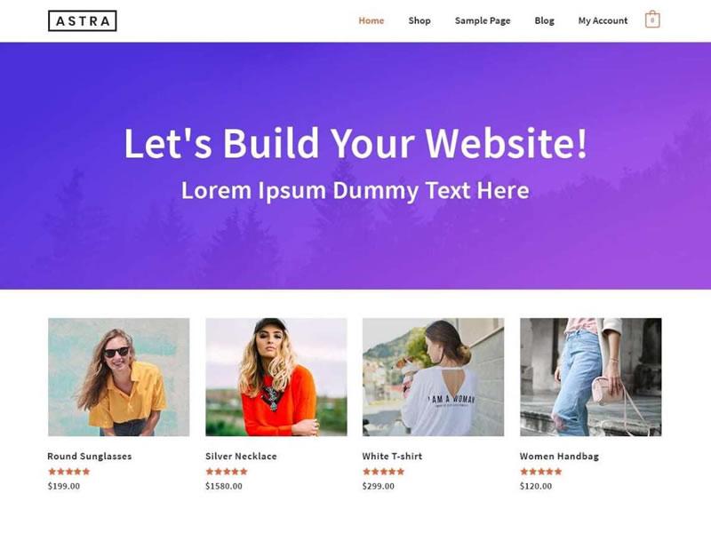 Tema astra - Melhores temas WordPress