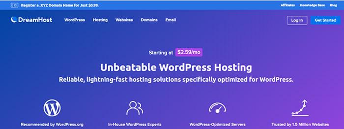Melhor hospedagem WordPress Dreamhost
